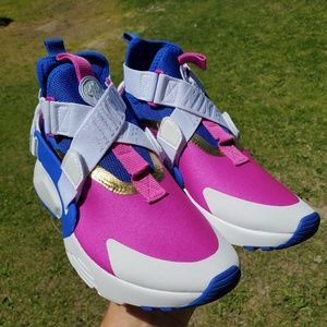 Air Huarache City GS Racer Blue/Fuchsia/Gold